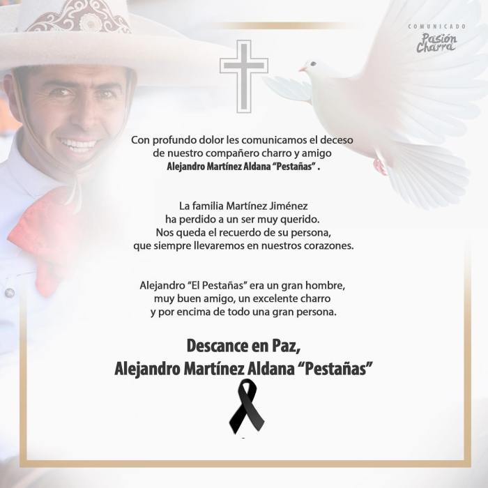 Alejandro Martínez charro El Pestañas