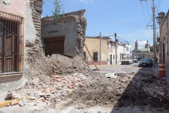 Finca derrumbe centro Lagos de Moreno