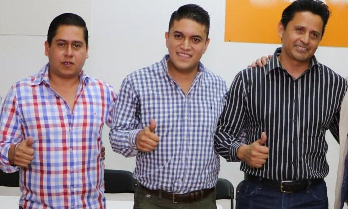 De izq a der: Edgar González, Tecutli Gómez y Carlos Álvarez