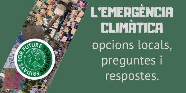 reportatge i debat sobre l'emergència climàtica