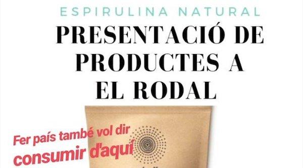 presentació de l'espirulina natural