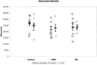 Glial reduction in amygdala in major depressive disorder
