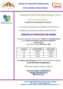 thumbnail of FORMATIONS INFORMATIQUE 2017 2éme trim Sambin