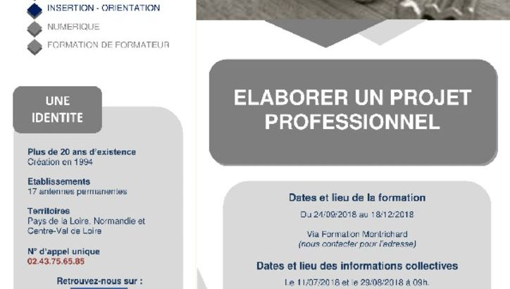 thumbnail of Via Formation_Elaborer Projet Professionnel_Montrichard Sep2018-1
