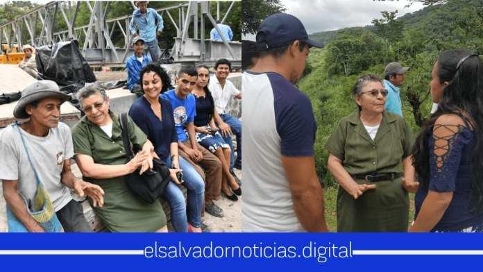 Ministra Maria Chichilco visita Torola y San Isidro