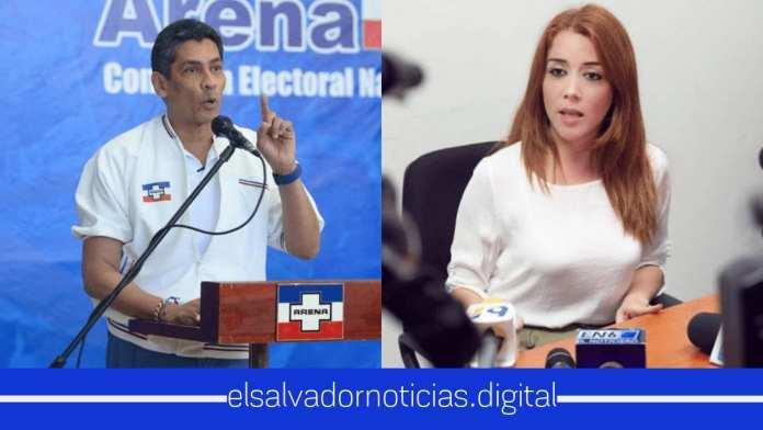 Continua la novela entre la diputada Felissa Cristales y el presidente de ARENA Gustavo Lopez