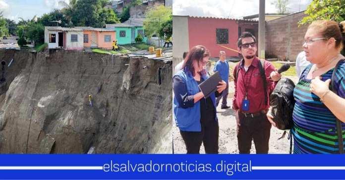 Ministra de Vivienda afirma que este 6 de Nov. se le dará los $300 a las personas afecta de la cárcava en Santa Lucia