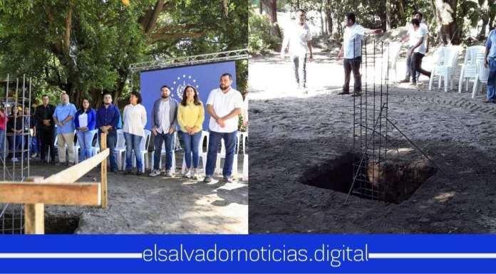 Funcionarios del Gabinete Territorial colocan la primera piedra de El Cubo en el Sitio del Niño
