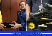 Romeo Herrera protege los trabajadores con calzado especial y adecuado para prevenir riesgos laborales