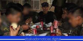 Ministro de Defensa comparte Cena de fin de año con soldados y agentes de la PNC