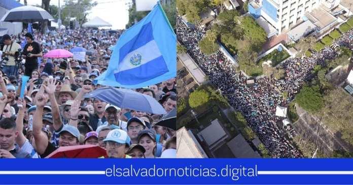 Salvadoreños en redes sociales organizan segunda mega concentración para llegar a la Asamblea el dia domingo, desvinculando al Presidente Bukele, PNC y la FAES