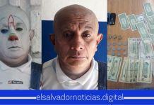 PNC captura a extorsionista que se escondía bajo el disfraz de un payaso en San Salvador