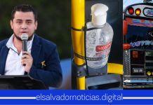 Romeo Rodríguez ha dado orden para que todo el transporte colectivo del país alcohol gel en sus unidades