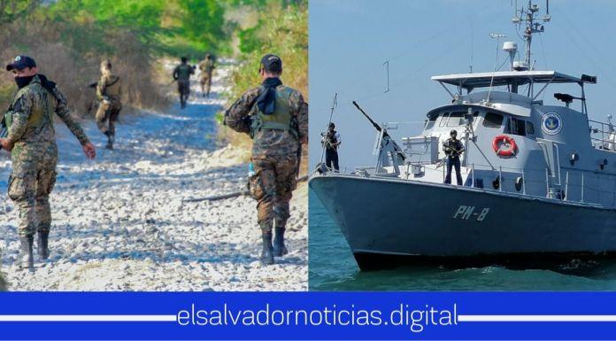 Fuerza Armada y Fuerza Naval continúan vigilando puntos ciegos fronterizos para prevenir la entrada de personas con COVID-19 al país