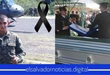 Fuerza Armada de luto por la perdida de un héroe que estaba comprometido a proteger la vida de los salvadoreños