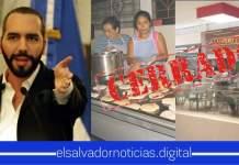 Nayib Bukele anuncia suspensión el servicio en mesas de todos los restaurantes, cafés, comedores, pupuserías y similares