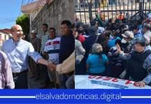 Alcalde de ARENA provoca MEGA aglomeración de personas en CENADE violentando el régimen de excepción