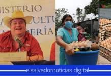 Ministerio de Agricultura hace donativos de frutas, verduras, hortalizas, mariscos, granos, pollos, entre otros a 67 familias Salvadoreñas