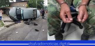 VÍDEO| Presuntos pandilleros intentaron atropellar a soldados que hacían retén