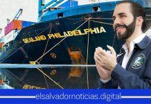 Arriba a El Salvador buque con contenedores repletos de lácteos para abastecer a la población ante la crisis por COVID-19