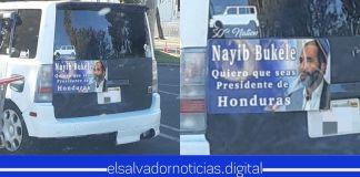 Hondureños piden a Nayib Bukele como Presidente de su nación