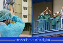 Autoridades dan de alta a cinco salvadoreños que vencieron el COVID-19 en el Hospital San Rafael