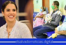 Primera Dama Gabriela de Bukele continúa apoyando con todo lo necesario a la familia de trillizas Vicente García