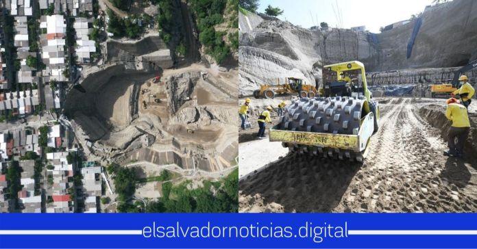 Obras Públicas mantiene su jornada en la cárcava de la Residencial Santa Lucía, la que gobiernos anteriores decidieron ignorar por años