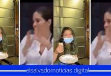 Salvadoreños cuestionan a Bertha Deleón, como hace para comer con mascarilla puesta, ya que ellos no han podido