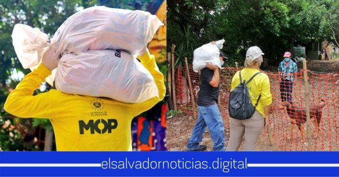 Equipo de Obras Públicas continúa llevando hasta el último rincón paquetes alimentarios a familias salvadoreñas