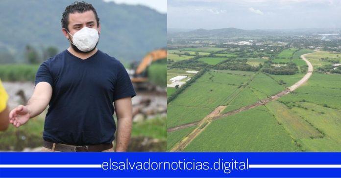 Ministro Romeo Rodríguez supervisa avance del Periférico Claudia Lars, que consta de 10.08 kilómetros de progreso para todo El Salvador