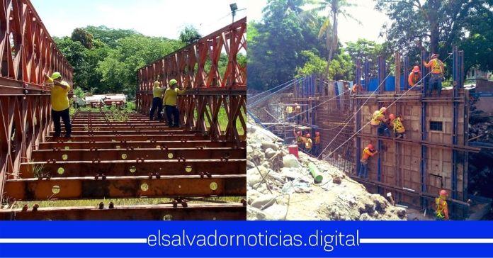 Obras Públicas realiza construcción de NUEVO puente de concreto para familias afectadas por tormentas sobre Río El Jute