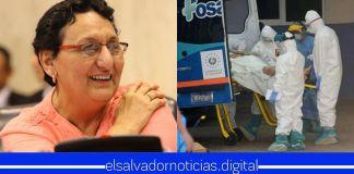 De manera EGOÍSTA Lorena Peña afirma haber vencido al COVID-19, mientras su partido no hace nada para que menos salvadoreños mueran por la enfermedad