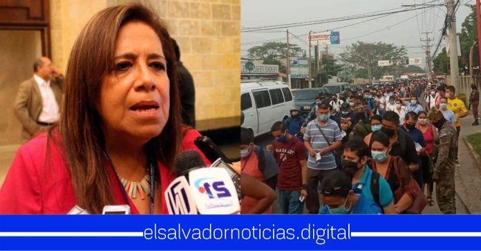 Nidia Díaz señala que El Salvador no necesita cuarentena, solo hay que decirle a la gente que se «autocontrole a no salir»