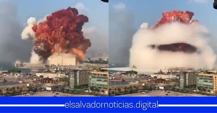 Dos potentes explosiones en Beirut capital de Líbano ha dejado decenas de heridos y muertos