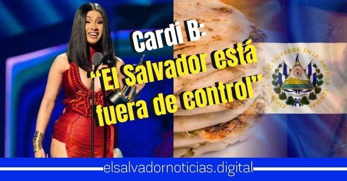 Cardi B elogió las pupusas: «El Salvador está fuera de control»