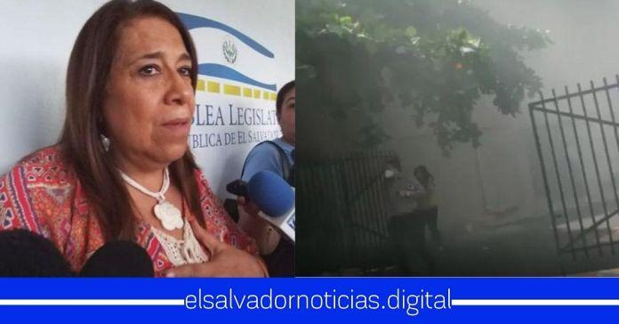 #ÚltimaHora   Oficinas del FMLN agarran fuego en la Asamblea Legislativa