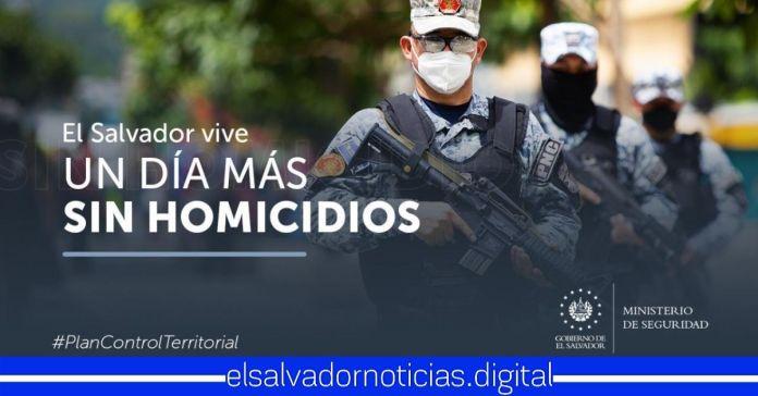 El Salvador reporta un día más con CERO homicidios a nivel nacional