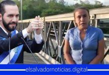 Alcaldesa de Torola desmiente a ARENA y el FMLN afirmando que el puente que construyo el Gobierno de Bukele se encuentra en perfecto estado