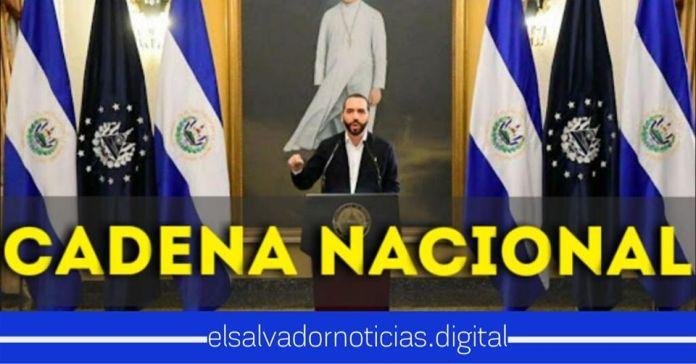 Presidente Bukele invita al pueblo salvadoreño a sintonizar la Cadena Nacional de Radio y Televisión MAÑANA 10:00am