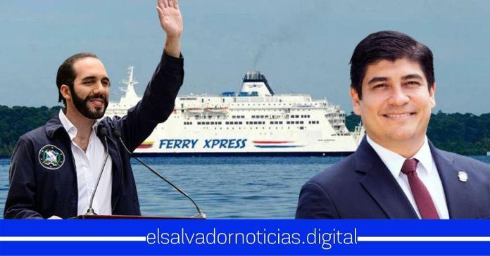 El Salvador y Costa Rica firman memorando de entendimiento para implementación de ferry entre naciones