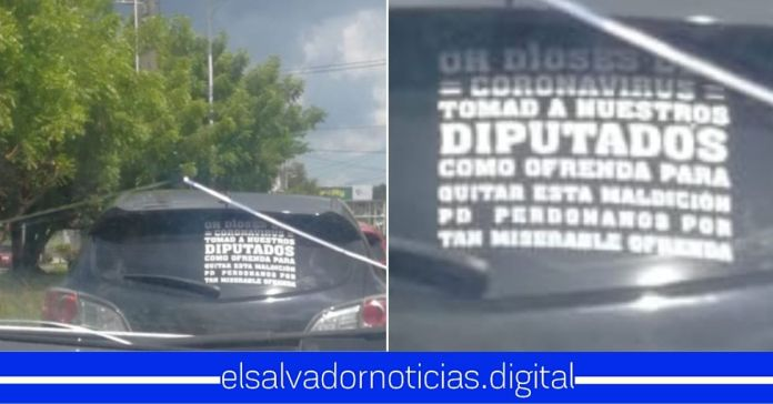 Salvadoreños le piden a Dios para que el Coronavirus se lleve a los Diputados Mañosos