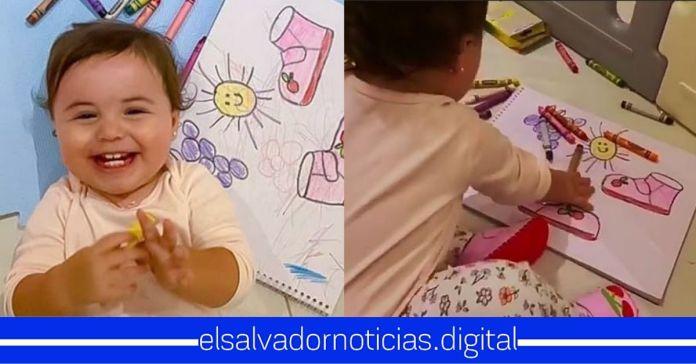 Layla Bukele comparte con los salvadoreños sus habilidades para colorear