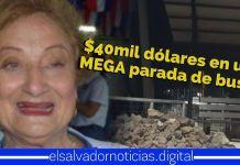 Milena Escalón les mira la cara a los santanecos, robandoles $40mil dólares por una para de buses incompleta
