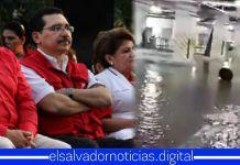 """Hospital Regional de San Miguel """"legado"""" del FMLN que costó 85mil dólares, se cae a pedazos por las fuertes lluvias"""