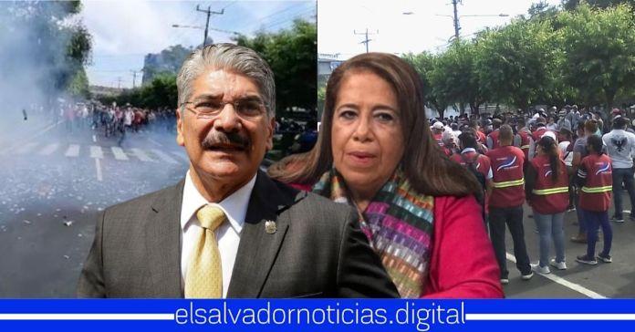 ARENA y FMLN obligan a trabajadores de alcaldías a marchar al Ministerio de Hacienda para exigir FODES