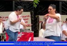 Captan a Loreña Peña dando un discurso con unos tragos demás sin poder mantenerse de pie