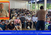Denuncian a Carlos Reyes por organizar reuniones sin distanciamiento social con veteranos en Ilobasco