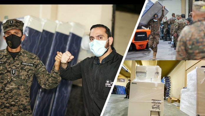 Ministerio de Salud hace donativo a Protección Civil ante emergencia por ETA.