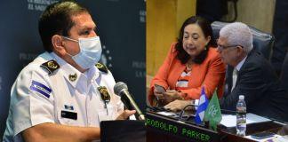 Aprueban separar a Rodolfo Parker y Yanci Urbina de conocer antejuicio contra Director de la PNC Arriaza Chicas